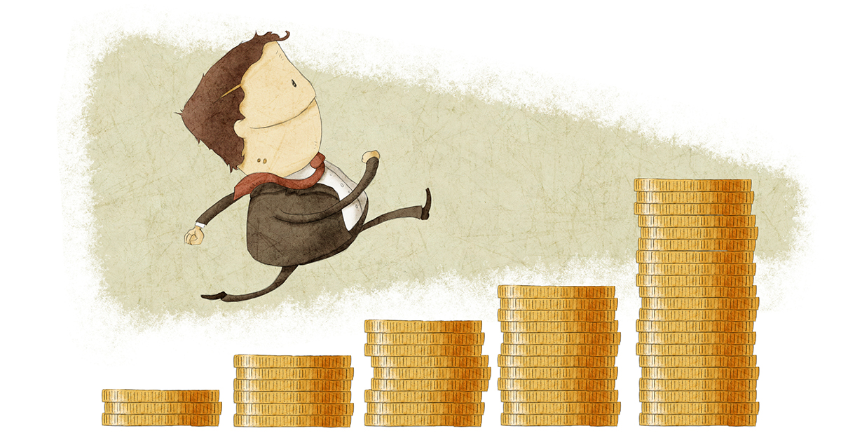 businessman_running_up_graph_of_coins