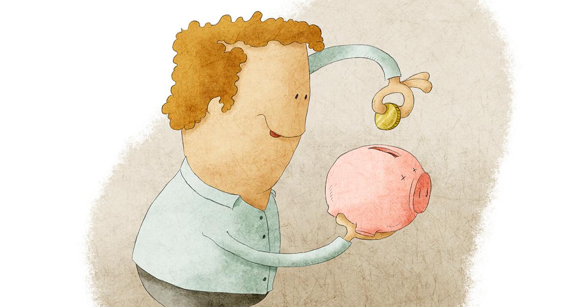 man_putting_coin_in_piggy_bank