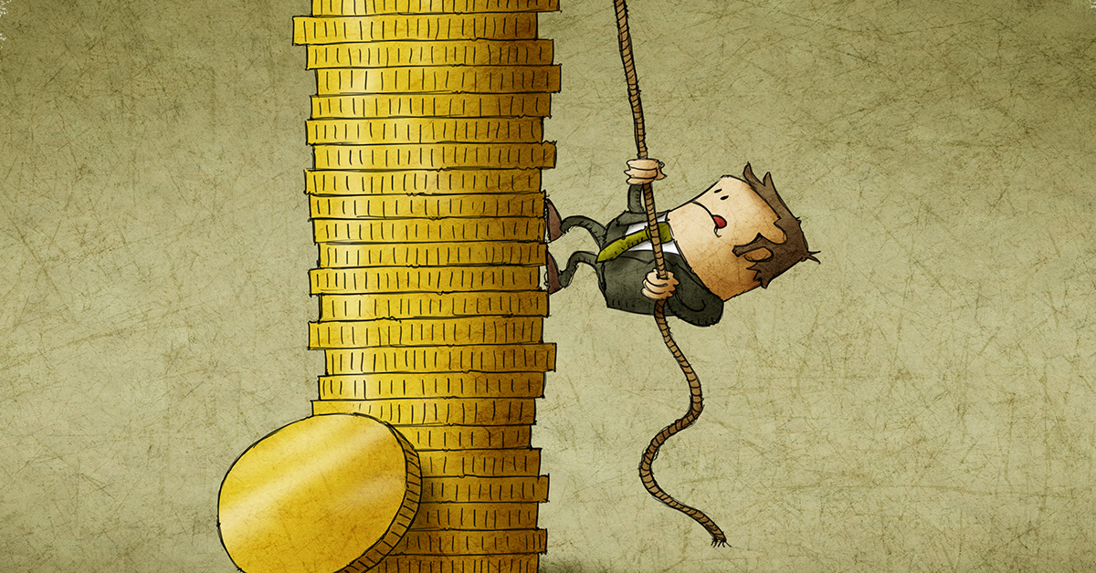 man_scaling_gold_coin_column