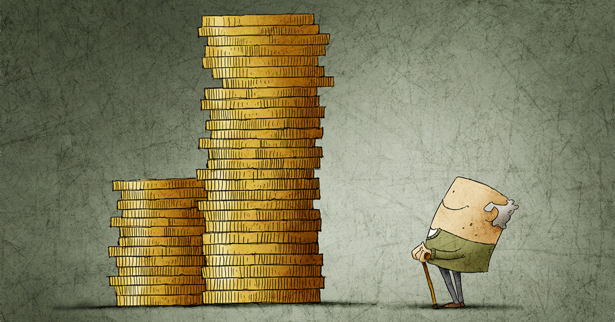 man_staring_at_gold_coin_piles